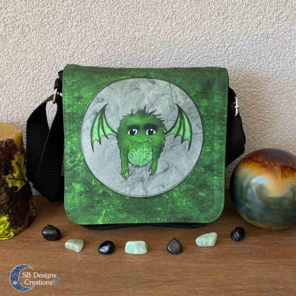 Little Monster Green Bag Small-1