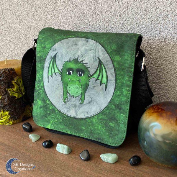 Little Monster Green Bag Small-2