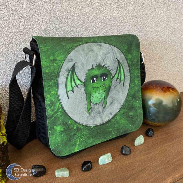 Little Monster Green Bag Small-3