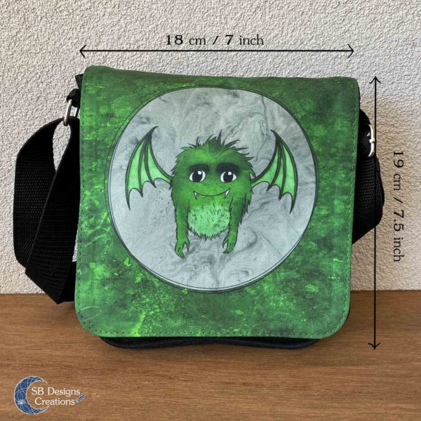 Little Monster Green Bag Small-4