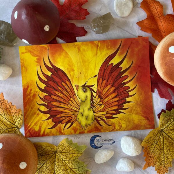 Feniks-Phoenix-Ansichtkaart-Mythologische Wezens - Fantasy Creatures-SBDC-1