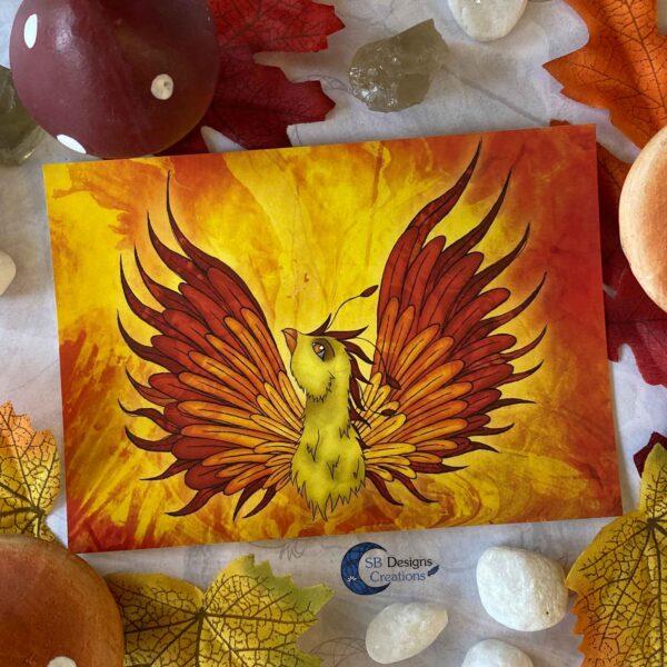 Feniks-Phoenix-Ansichtkaart-Mythologische Wezens - Fantasy Creatures-SBDC-2