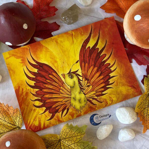 Feniks-Phoenix-Ansichtkaart-Mythologische Wezens - Fantasy Creatures-SBDC-3