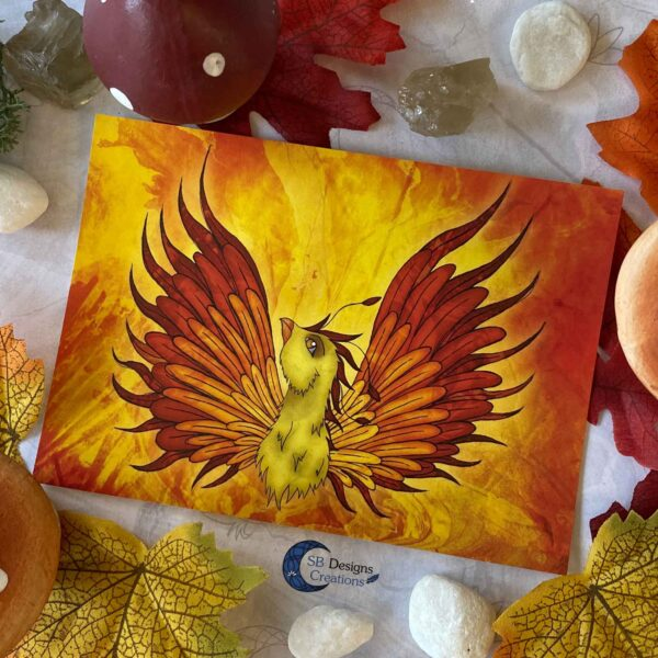 Feniks-Phoenix-Ansichtkaart-Mythologische Wezens - Fantasy Creatures-SBDC-4