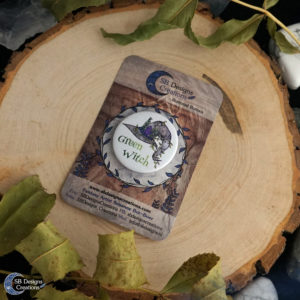 Green-Witch-Button-Pin-Witchcraft-Pagan-SBDesignsCreations-2