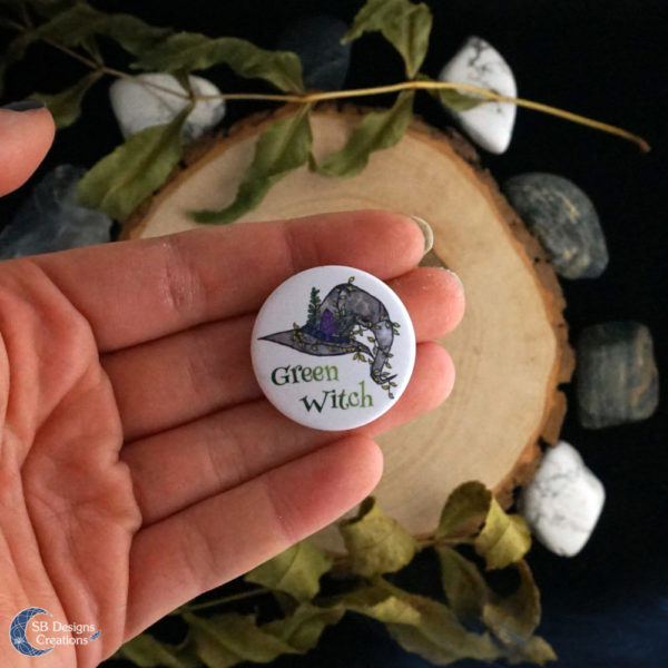 Green-Witch-Button-Pin-Witchcraft-Pagan-SBDesignsCreations-5
