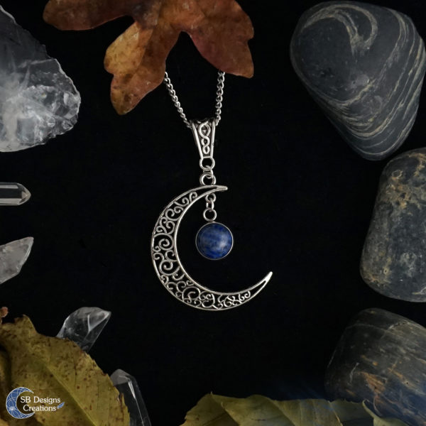 Maan-Ketting-Halve-Maan-Keltisch-Lapis-Lazuli-SBDesignsCreations-1