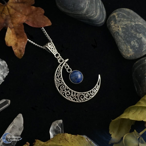 Maan-Ketting-Halve-Maan-Keltisch-Lapis-Lazuli-SBDesignsCreations-2