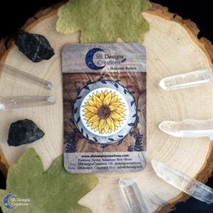 Sunflower-Pin-HappyVibes-Joy-PlantMagick-SBDesignsCreations