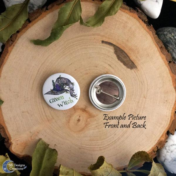 Tiger Spirit Animal Button Pin Badge SB Designs Creations-4
