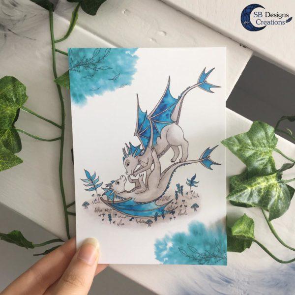 Baby-Dragons-Print-Postcard-SBDesignsCreations-Artwork