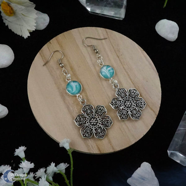 Flower-Earrings-Spring-Jewelry-Ostara-earrings-SBDesignsCreations-3