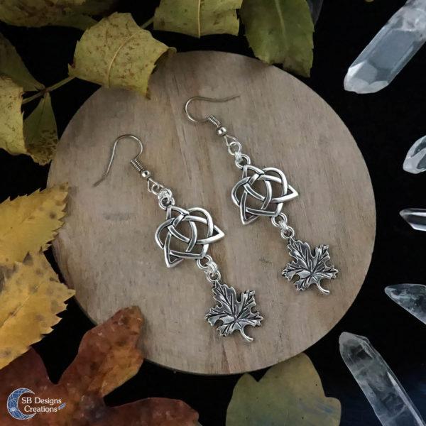 Green-Witch-Earrings-Celtic-Earrings-Leaf-Earrings-2