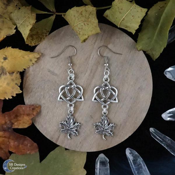 Green-Witch-Earrings-Celtic-Earrings-Leaf-Earrings