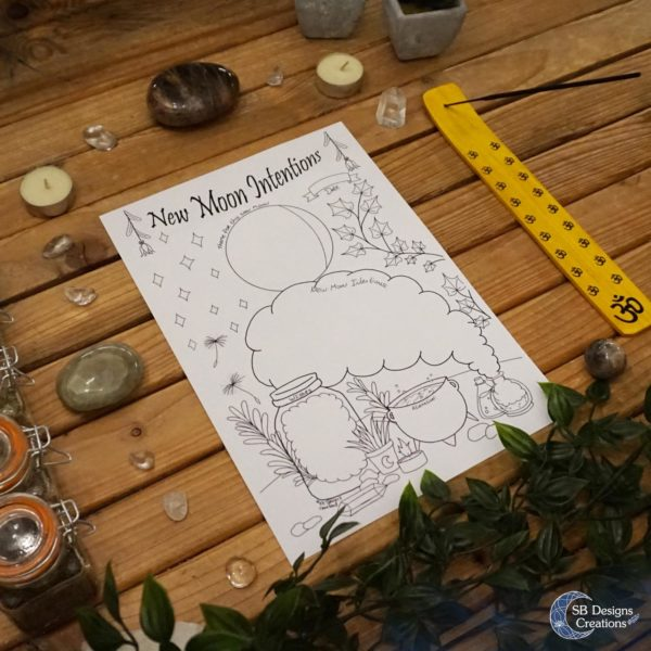 New-Moon-Intention-Worksheet-Nieuwe-Maan-Werkblad-Kleurplaat-Coloring-Page-2