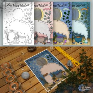 New-Moon-Intention-Worksheet-Nieuwe-Maan-Werkblad-Kleurplaat-Coloring-Page