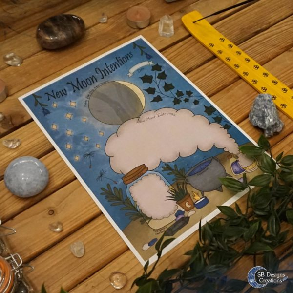 New-Moon-Intention-Worksheet-Nieuwe-Maan-Werkblad-Kleurplaat-Coloring-Page-4