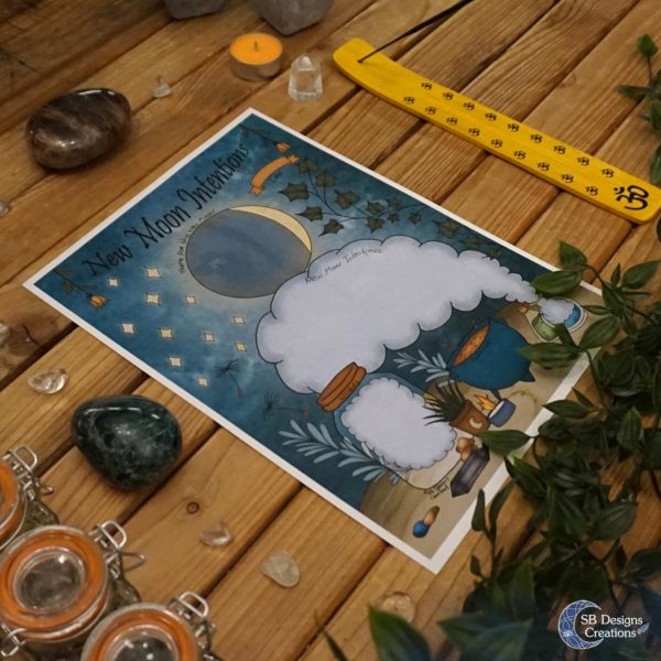 New-Moon-Intention-Worksheet-Nieuwe-Maan-Werkblad-Kleurplaat-Coloring-Page-5