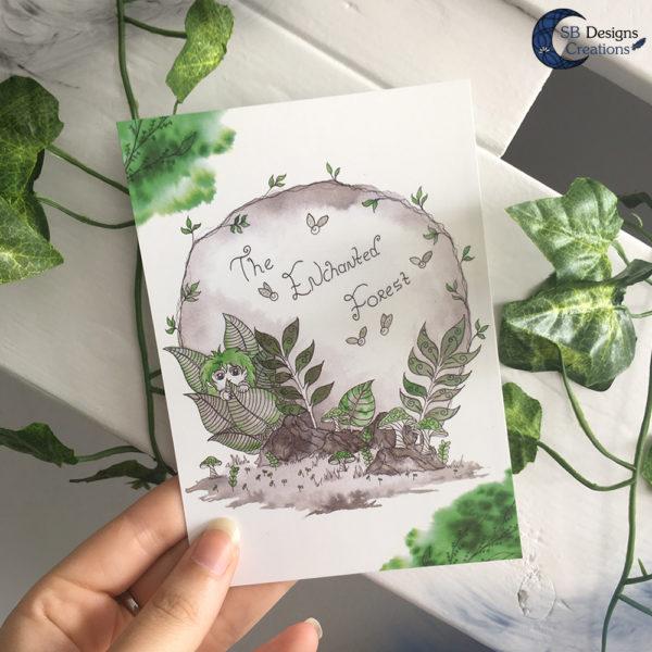 The-Enchanted-Forest-Postcard-SBDesignsCreations-Artwork