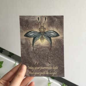 quote kaart quote card firefly vuurvlieg fantasy art