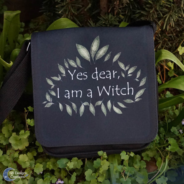 I am A Witch Shoulderbag-Heks tas-SBDesignsCreations