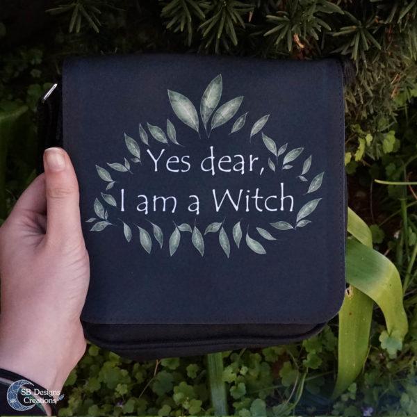 I am A Witch Shoulderbag-Heks tas-SBDesignsCreations2