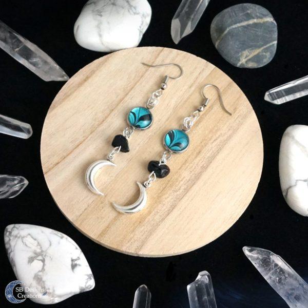 Luna maan oorbellen Luna moon earrings