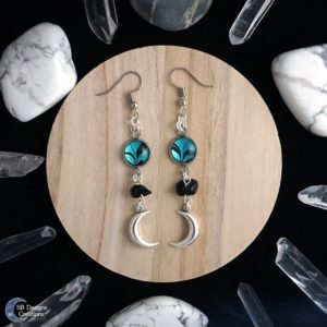Luna moon earrings Luna maan oorbellen