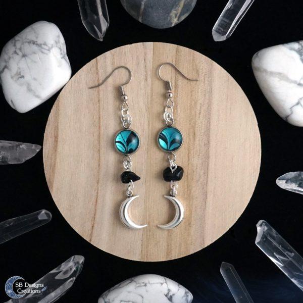 Luna moon earrings Luna maan oorbellen