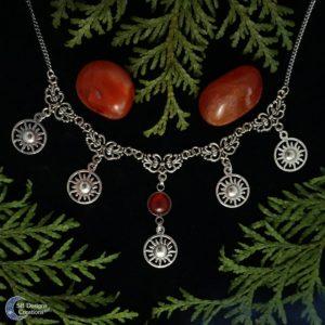 Sun-Necklace-Zon-ketting-fire-element-Vuur-Element-SB Designs Creations