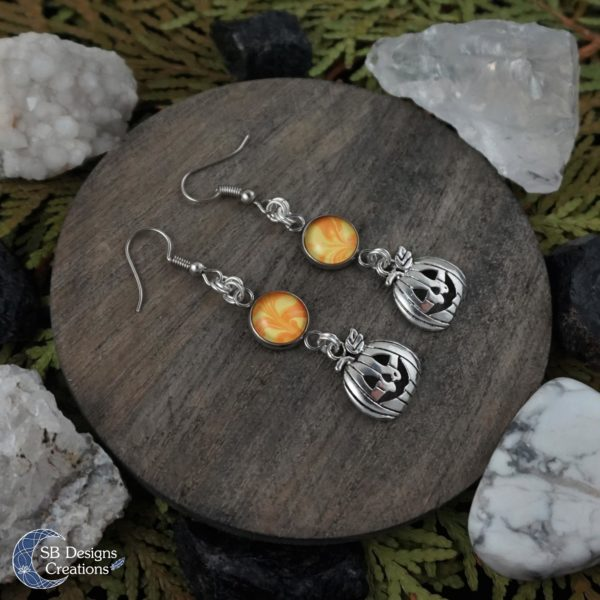 Halloween-Oorbellen-Pompoenen-Orange-Geel-SBDesignsCreations-2