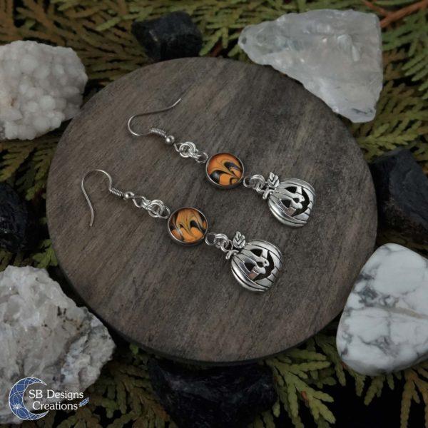 Halloween-Oorbellen-Pompoenen-Oranje-Zwart-SBDesignsCreations2