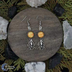 Halloween-Oorbellen-Spinnen-Orange-Geel-SBDesignsCreations