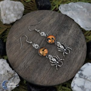 Halloween-Oorbellen-Spinnen-Orange-Zwart-SBDesignsCreations