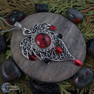 Red-Leaf-Necklace-Big-Nature-SBDesignsCreations-2