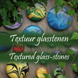 Textured glass-stones
