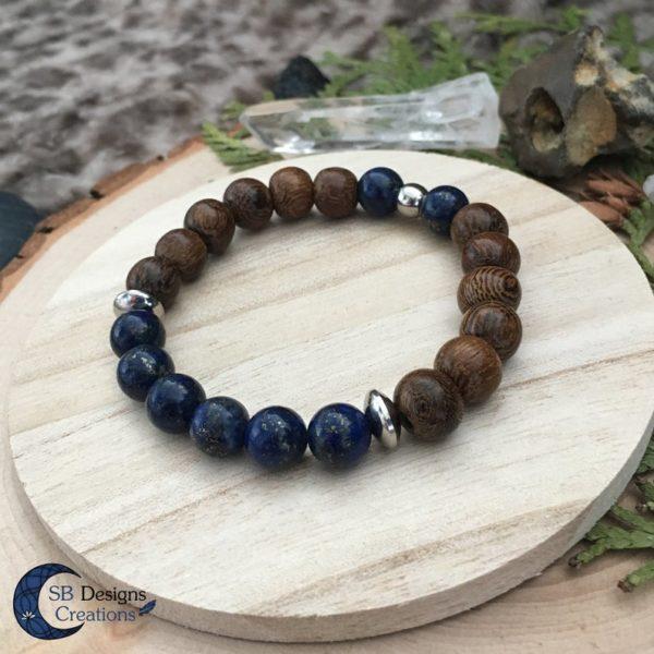 Wood-And-Stone-Lapis-Lazuli-Armband