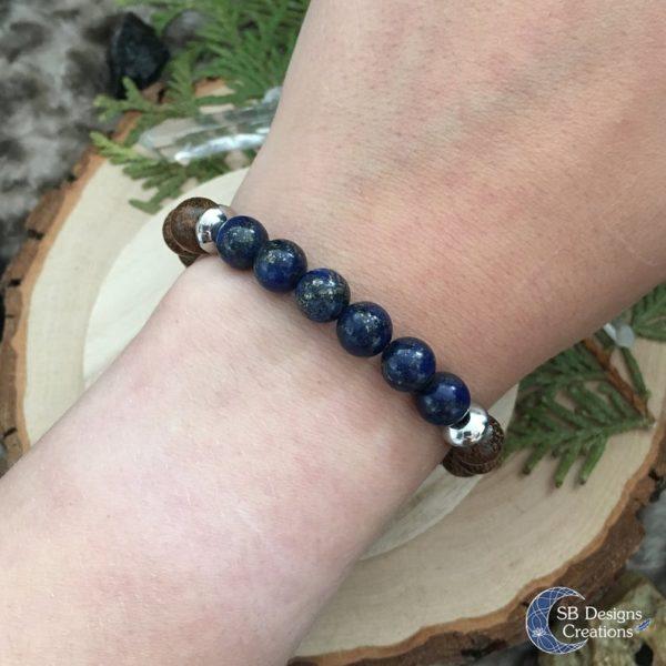 Wood-And-Stone-Lapis-Lazuli-Edelstenen-kralenarmband