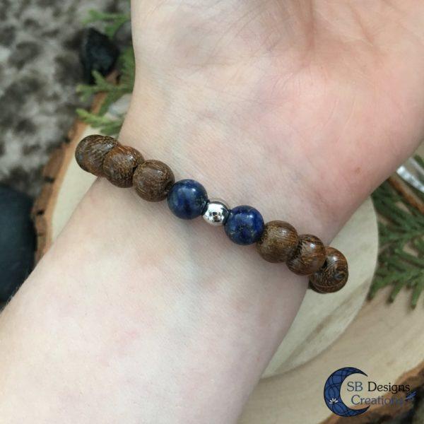 Wood-And-Stone-Lapis-Lazuli-Edelstenen-kralenarmband-sbdesignscreations