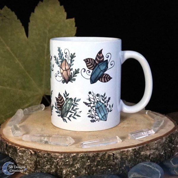 Crystal-Mug-Edelstenen-Mok-Floral-SBDesignsCreations