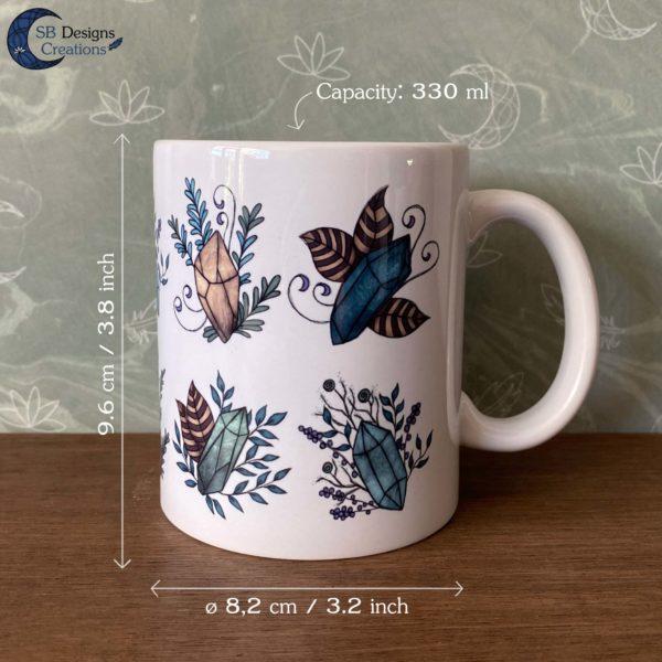 Crystals Mug Gemstones Mug SB Designs Creations Size