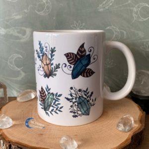 Floral Crystals Mug-Edelstenen Mok