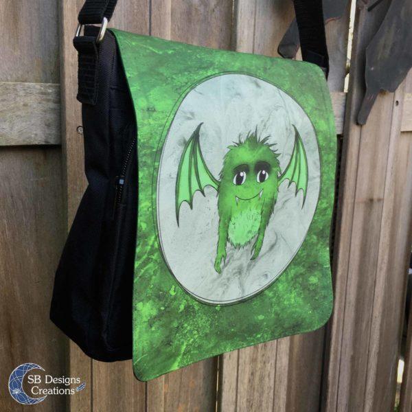 Groen-Monstertje-Groot-Schoudertas-2