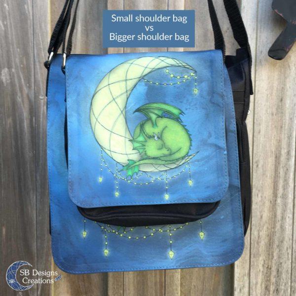 Kleine en grote schoudertas - Fantasy Illustratie