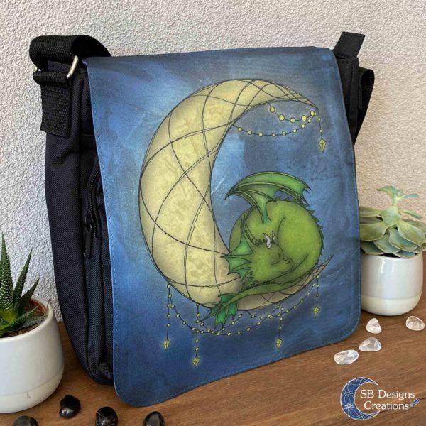Moondragon-Maandraakje-Draken-Tas-Maan-Fantasy-Art-Schoudertas-Messenger-Bag-2