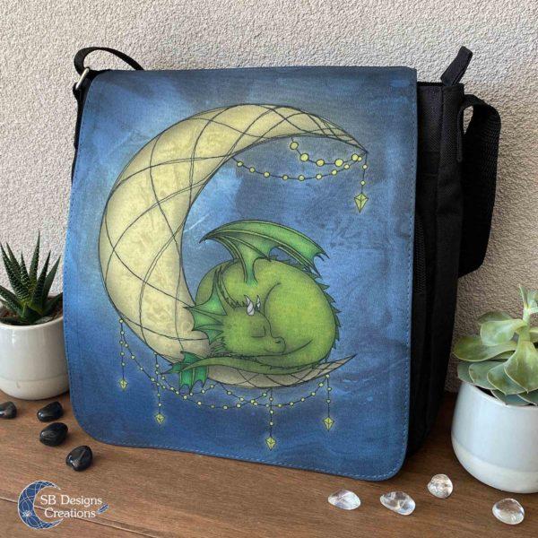 Moondragon-Maandraakje-Draken-Tas-Maan-Fantasy-Art-Schoudertas-Messenger-Bag-3