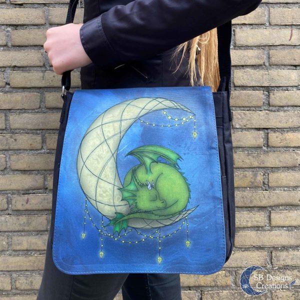 Moondragon-Maandraakje-Draken-Tas-Maan-Fantasy-Art-Schoudertas-Messenger-Bag-5