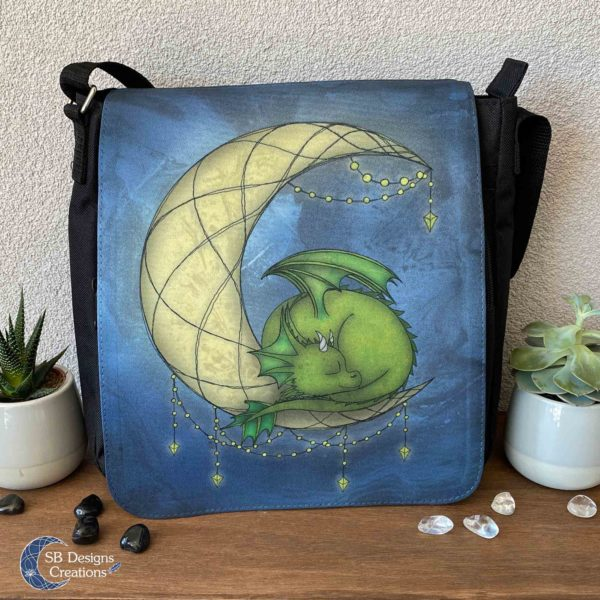 Moondragon-Maandraakje-Draken-Tas-Maan-Fantasy-Art-Schoudertas-Messenger-Bag