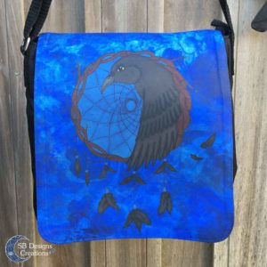 Raven-Dreamcatcher-Bigger-Shoulder-Bag-SBDesignsCreations