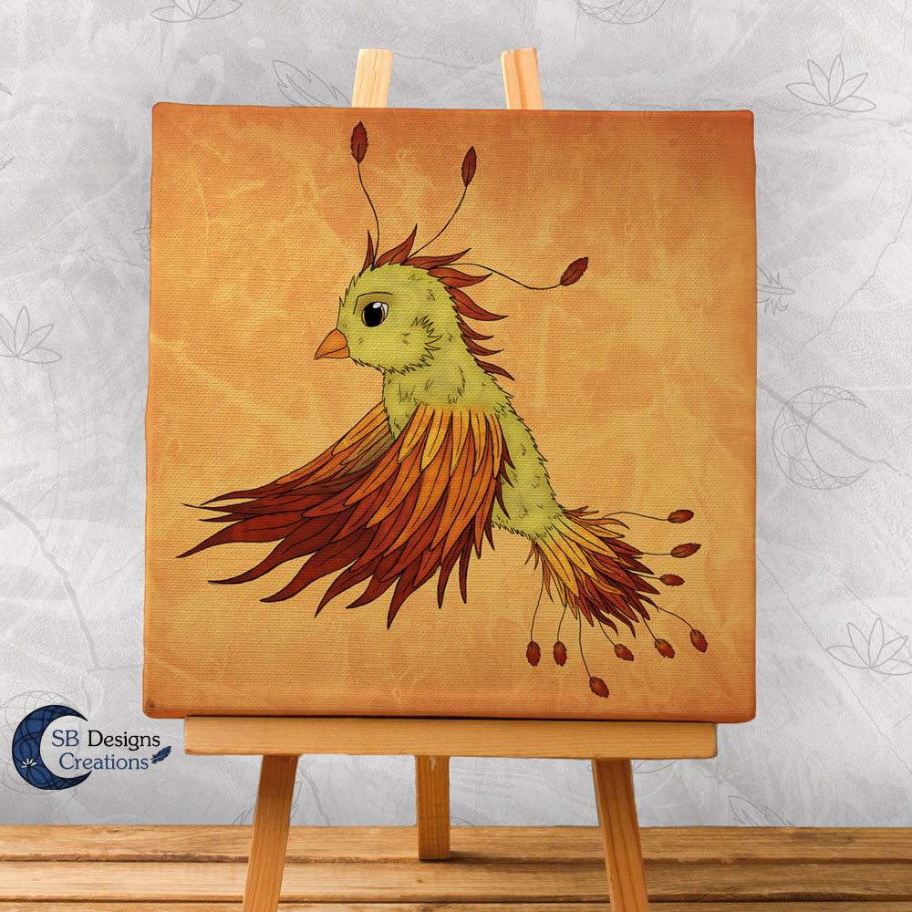 Canvas Art Phoenix Baby Sb Designs Creations Products Created With Magick